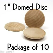 """DOME CIRCLE ~ 1"""" ~ Wood Cutout Craft Shape ~ Unfinished { Lot of 10 } ~ by PLD"""