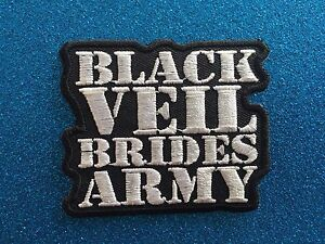 BLACK-VEIL-ARMY-Bride-Punk-Gothic-Grunge-Stitched-Iron-ON-Patch-Patches