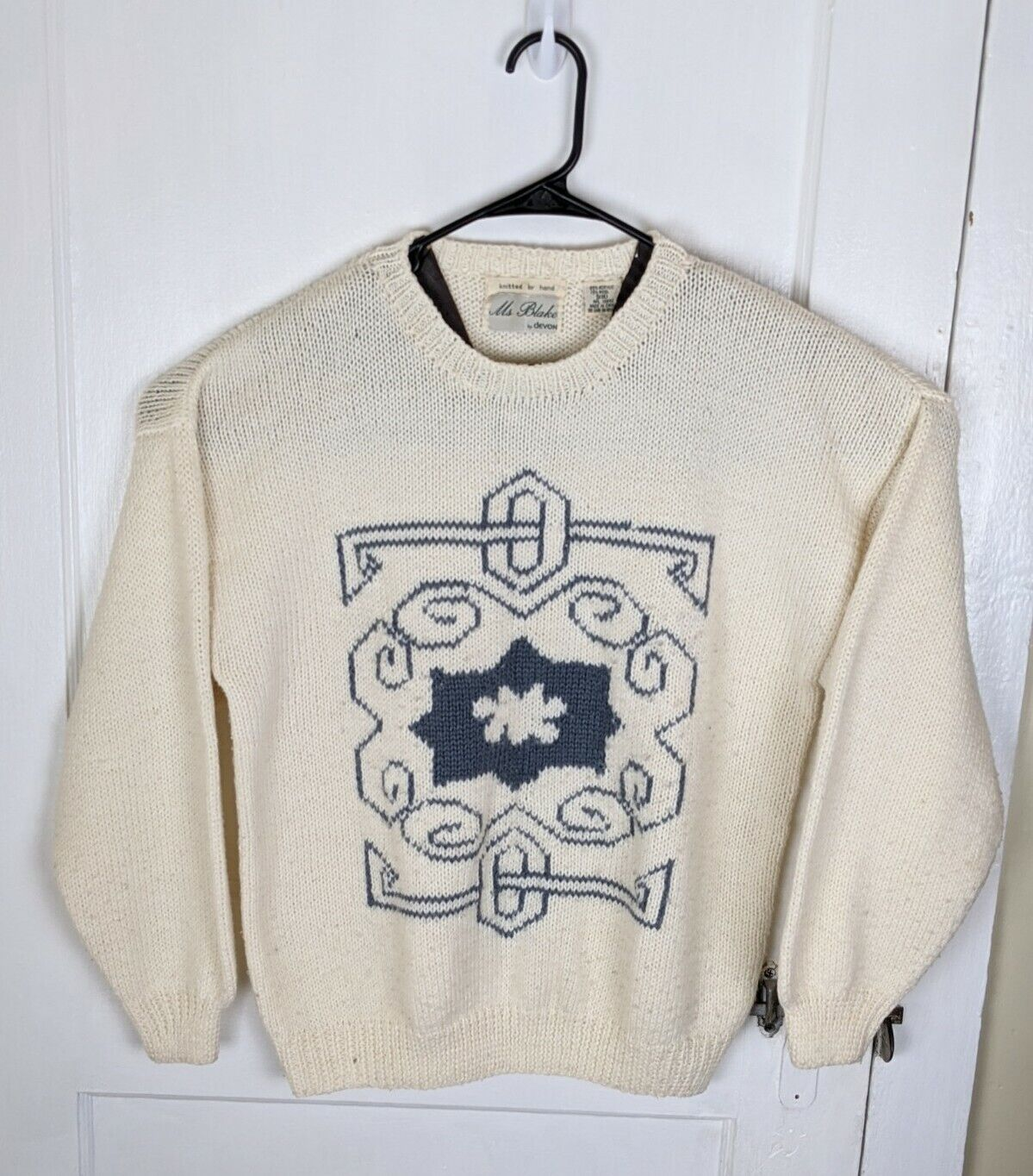 Vintage Ms Blake Women XL Pullover Sweater 90s Ha… - image 1