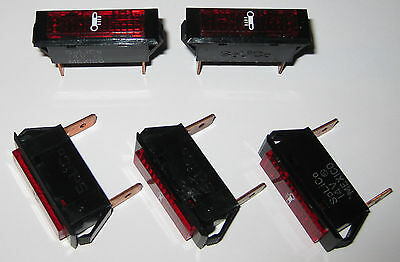 Solico 28V Red  Rectangular Indicator Lights 3639-1-12-53310 5 NEW