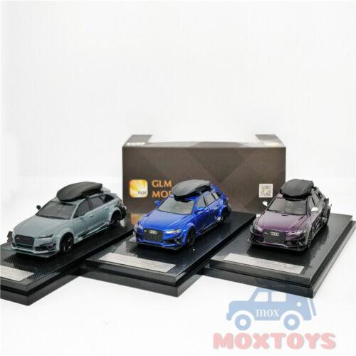 GLM 1:64 Darwin Pro DTM RS6 Avant purple//Blue//Gray Resin Model Car w//roof box