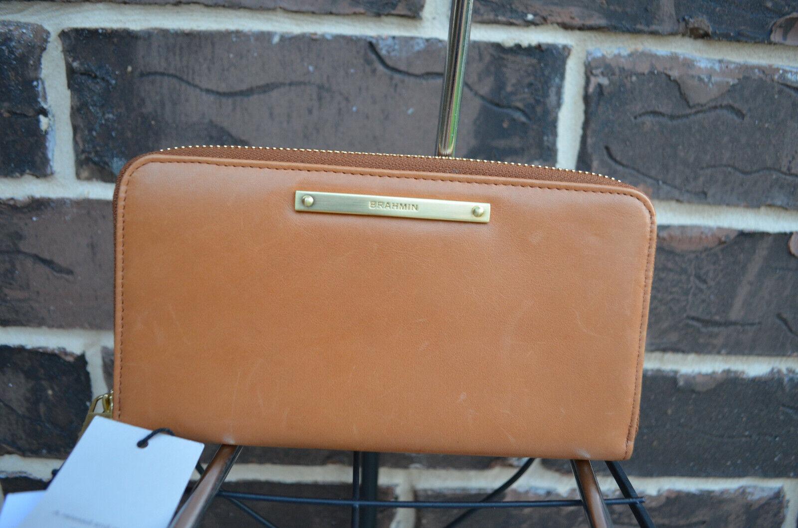 NWT Brahmin Suri Leather Wallet Clutch Tan Charlston brown
