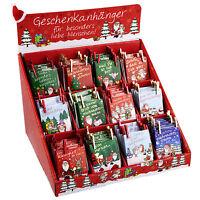 Depesche 4786_A Geschenkkarten 12er-Set Weihnachten Anhänger m. Klammer Neu