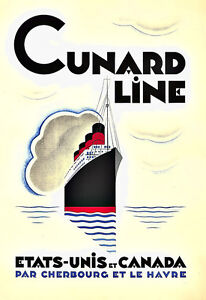 Art Ad Cunard Line   Etats Unis et Canada Travel  Deco  Poster Print - <span itemprop=availableAtOrFrom>Lytham St. Annes, United Kingdom</span> - Buyers may return their poster if not fully satisfied within 14 working days after the day that they receive the item.. Most purchases from business sellers are protected by the  - Lytham St. Annes, United Kingdom