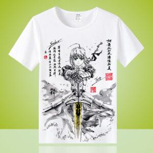 Anime-Fate-Grand-Order-Unisex-Cool-Otaku-Casual-T-shirt-Tops-Tee-Short-Sleeve