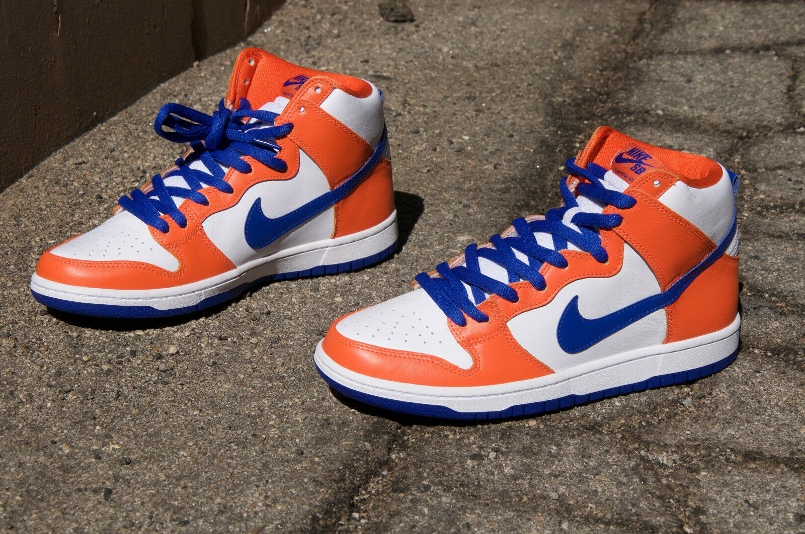 NEW NIKE SB DUNK HIGH TRD QS DANNY SUPA SAFETY ORANGE-BLUE Size 10