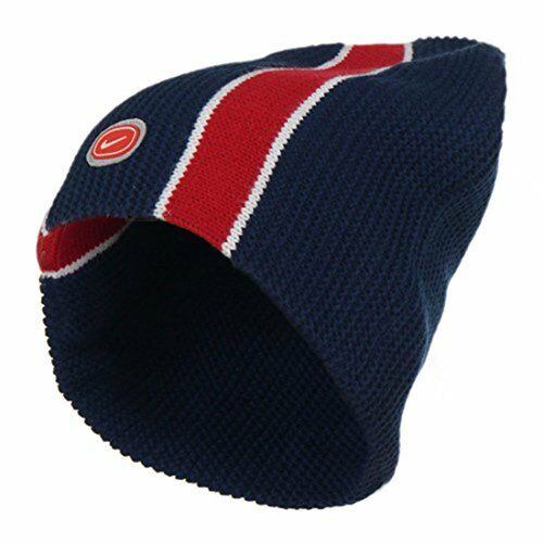 20825737ceb Nike Beanie Hat Navy   Red 568475 Wooly Knitted One Size Mens for sale  online
