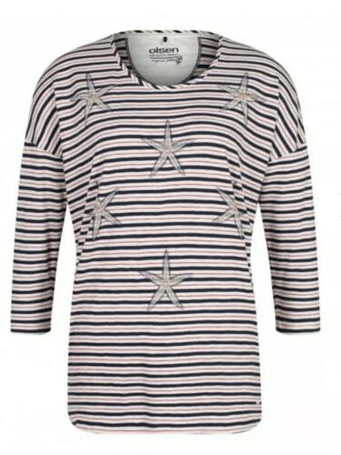 S126# Olsen T-shirt taille 18 RRP £ 59