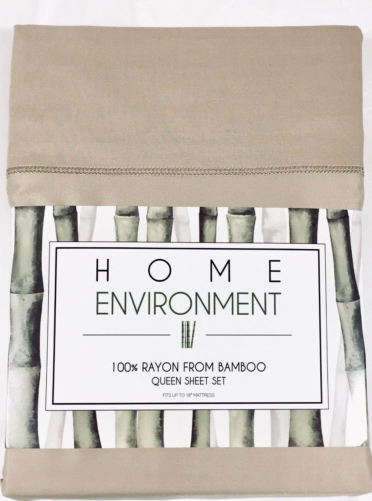 100% Seidig Bambus Blatt-Satz Home Environment Queen oder King Cappuccino