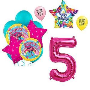 Image Is Loading Trolls 5th Birthday Balloon Bouquet