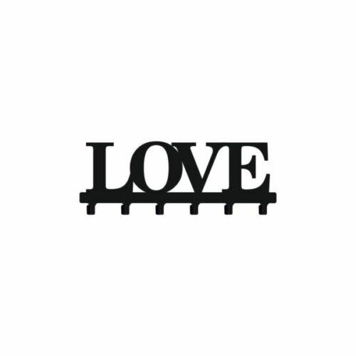 Kleiderhaken  aus Metall   Love   für Kleider  Wandhalter 60 cm
