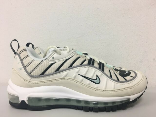 pretty nice 62551 9e4a9 Nike Womens Air Max 98 Sail Igloo Fossil Ah6799 105 Size 9