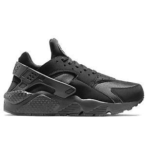 NIKE Air Huarache Sneaker da Uomo Uomo Scarpe Da Ginnastica Nero Nuovo 318429003