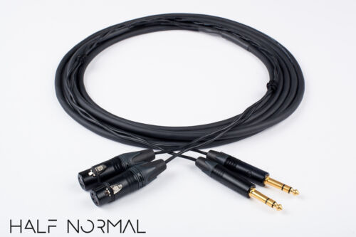 """2 Channel Snake Cable 10/' Foot Mogami 2930 Neutrik Gold XLR Female to 1//4/"""" TRS"""
