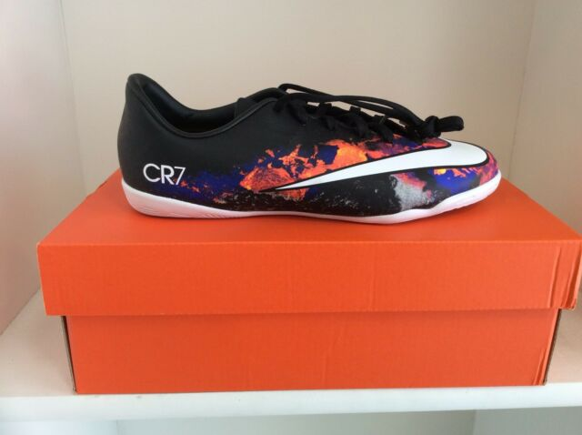65ac4cebc9 Nike Jr Cristiano Ronaldo CR7 Lava Indoor soccer Shoes Mercurial Victory  Youth
