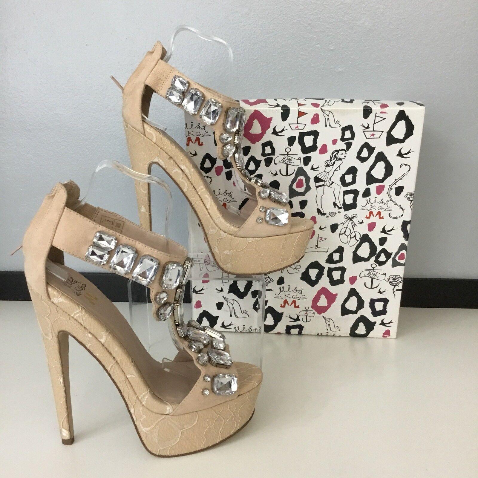 Miss KURT GEIGER Chaussures Talons Hauts Nude Taille UK 7 EU 40 BRAND NEW AVEC BOITE