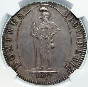 1835 SWITZERLAND Canton of BERN Antique Swiss Silver 4 Franken Coin NGC i87200