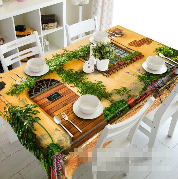 3D House Plants 6 Tablecloth Table Cover Cloth Birthday Party Event AJ WALLPAPER