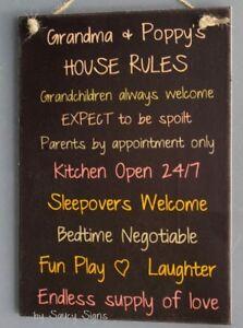 Grandma-Poppy-Grandparents-House-Rules-Black-Kids-Cute-Rustic-Wooden-Wall-Sign