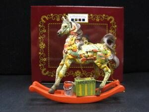 Trail-of-Painted-Ponies-SANTA-039-S-WORKSHOP-Christmas-Horse-Ornament-NEW-2018-NIB