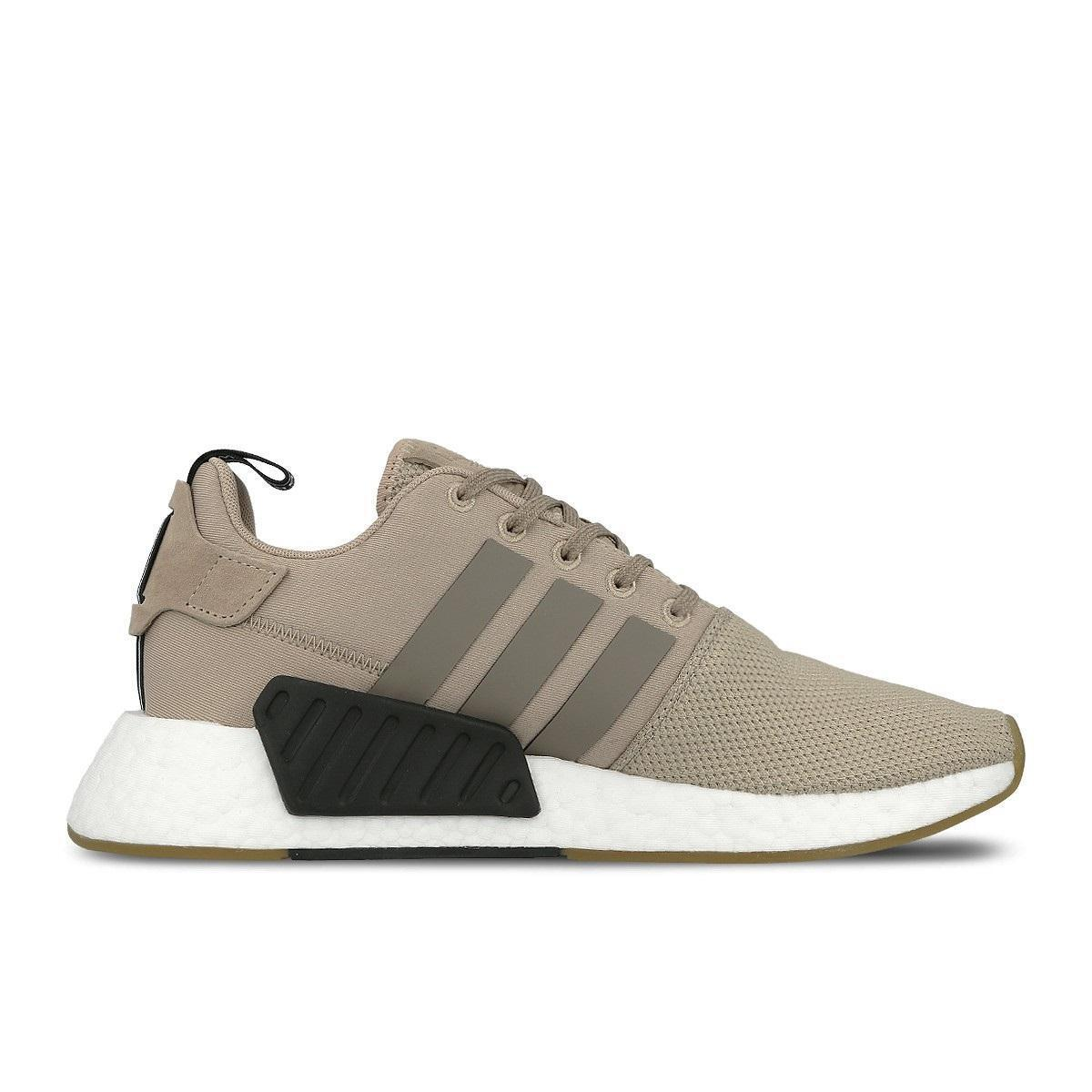 Mens Adidas NMD_R2 Trace Khaki Running Trainers BY9916