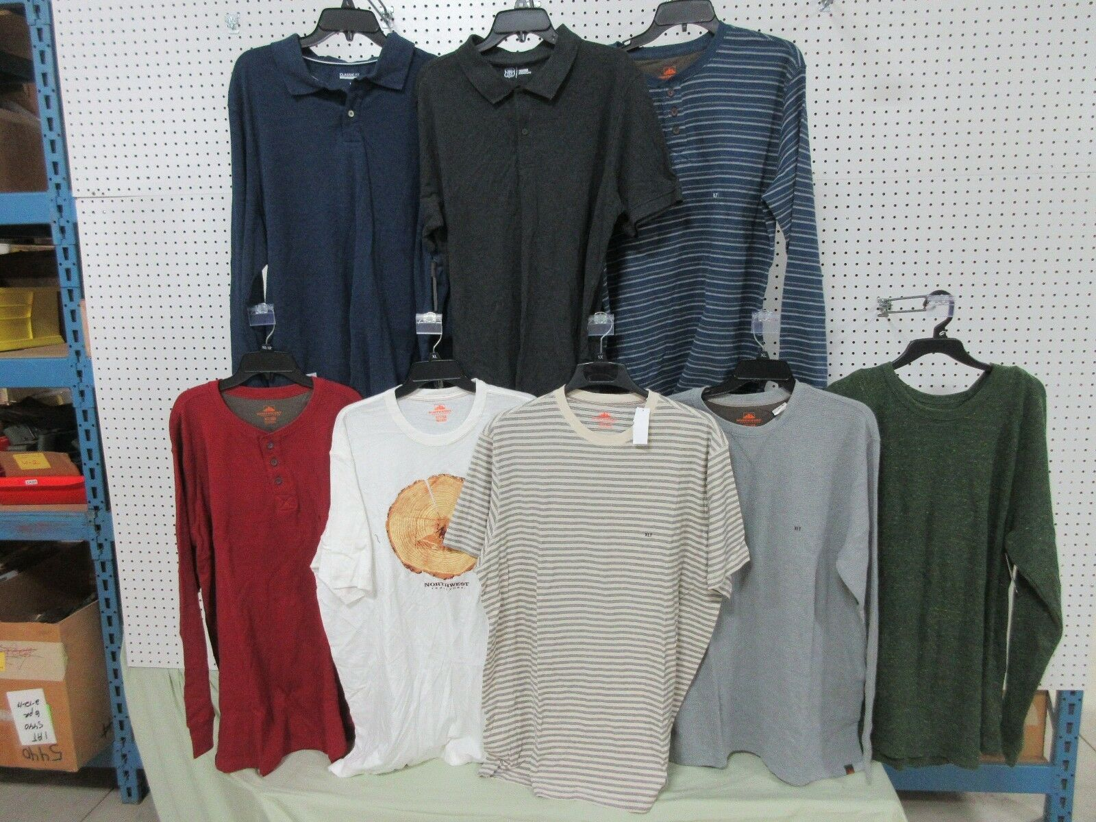 8  Herren T-SHIRTS XLT CLOTHING LONG THERMAL SHORT BIG TALL NORTHWEST ROUTE 66 LOTS