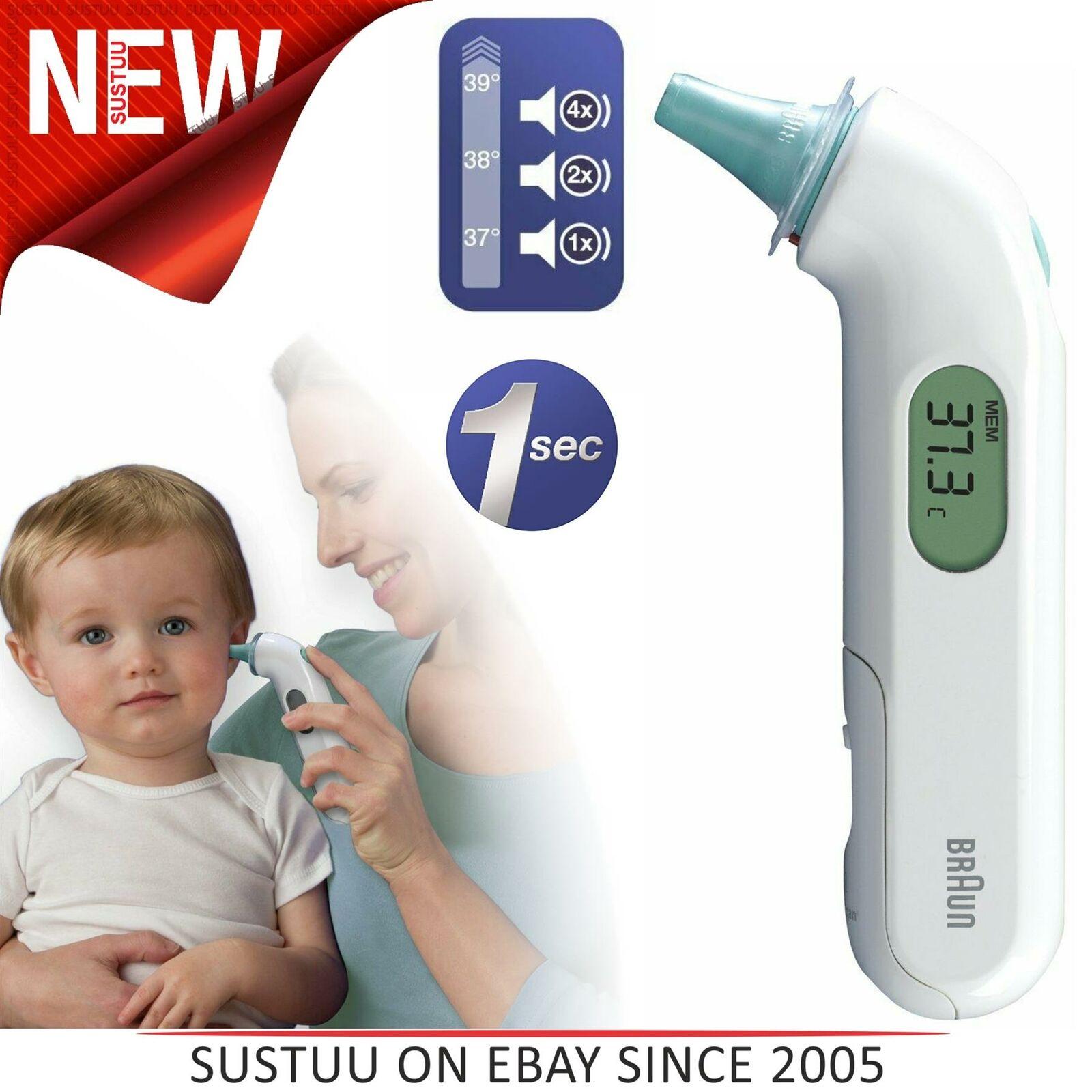Thermomètre Auriculaire Braun ThermoScan 3 Infrarouge IRT3030 NOUVEAU bébé enfants adultes