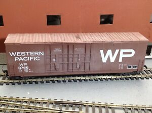 WP3766-Western-Pacific-50-039-Hi-Cube-Box-Car-by-MDC-Roundhouse-kit-1786-built-HO