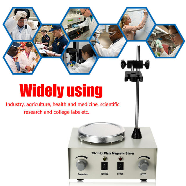 1000ml Hot Plate Magnetic Stirrer Lab Heating Dual Control Mixer 220V 250W *