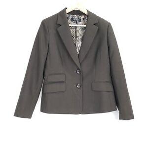 KASPER-Womens-Brown-Career-Blazer-Size-12