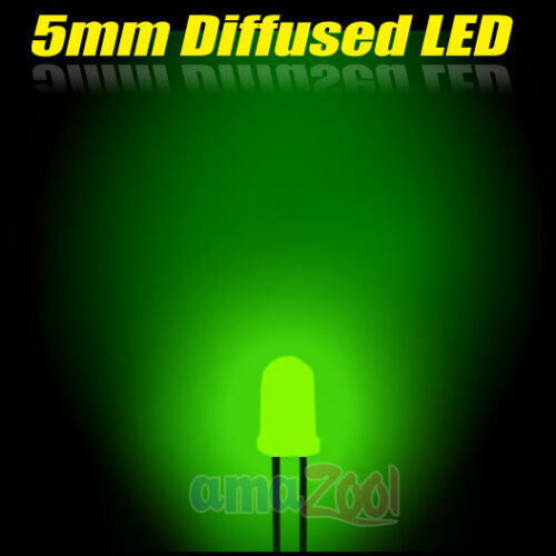 20pcs x Green 5mm Round Diffused lens LED light 120 Angle