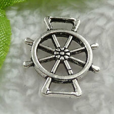Free Ship 260 pieces tibet silver steering wheel connector 19x16mm #1400