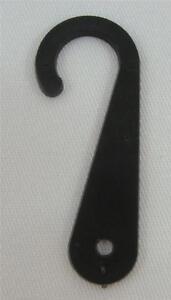 50-Qty-Black-Plastic-Sock-Hanger-Hook-Retail-Shopping-Supply