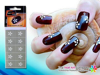 SmART-Nails - Flower Nail Art Stencils N014 Professional Nail Product