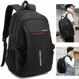 New Fashion Mens School Backpack Satchel Laptop Casual Travel Bag BLACK