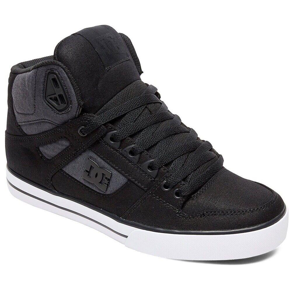 DC shoes Mens Pure WC TX SE Hi Top Sneaker shoes Black Dark Used