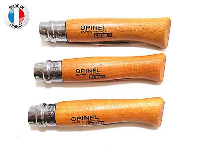 Véritable couteau Opinel - lame acier carbone - manche hêtre - n°8-9-10