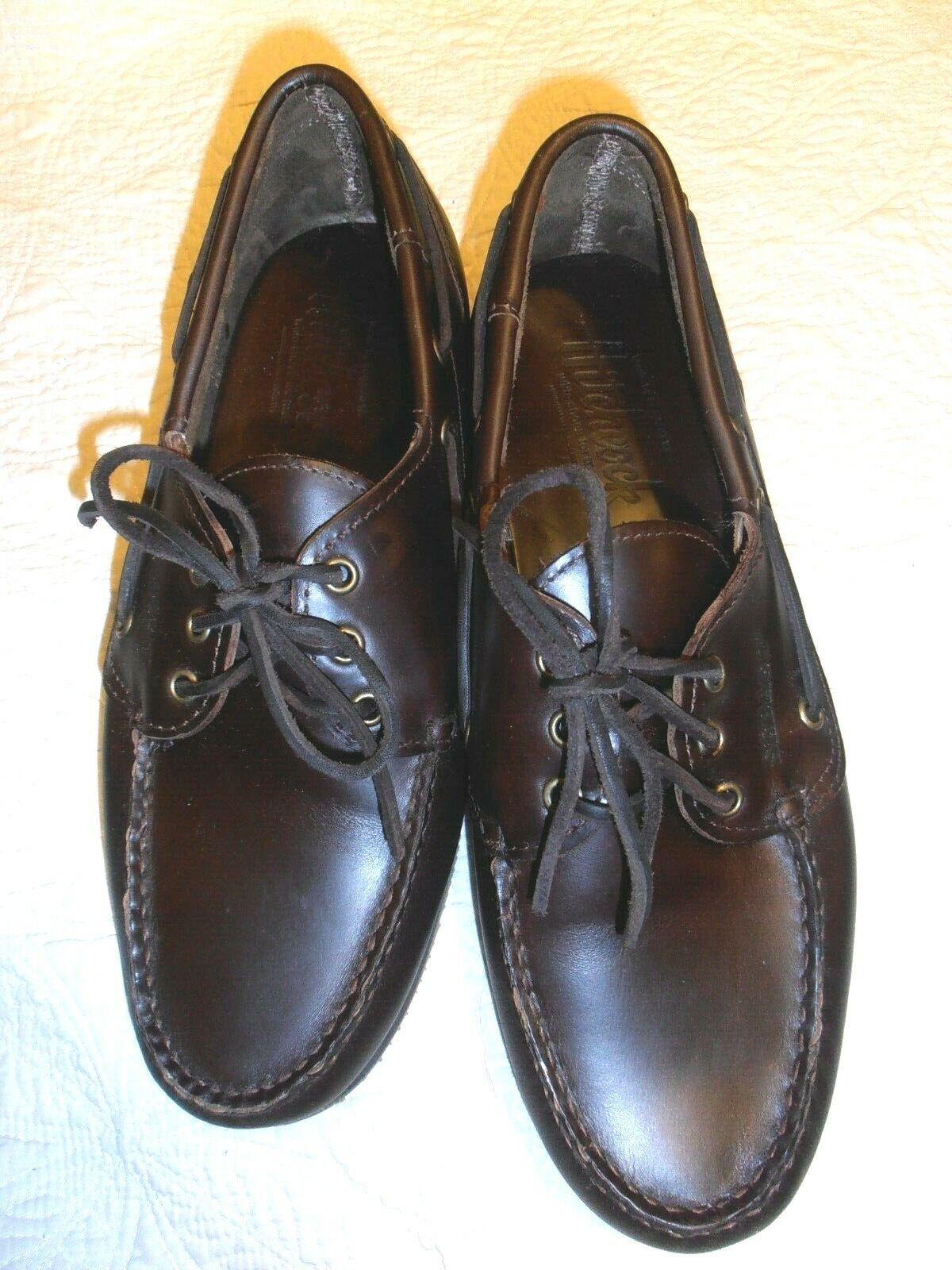 New HITCHCOCK Men`s sebago Street Moccasins shoes sz 10.5   3E   extra wide