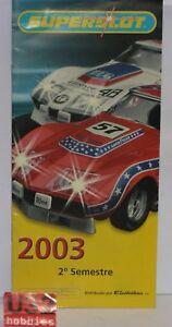 Spielzeug Bestellung Katalog Slot Car Jahr 2003 2grad Semester 20 Seiten Neu Scalextric Uk Elektrisches Spielzeug