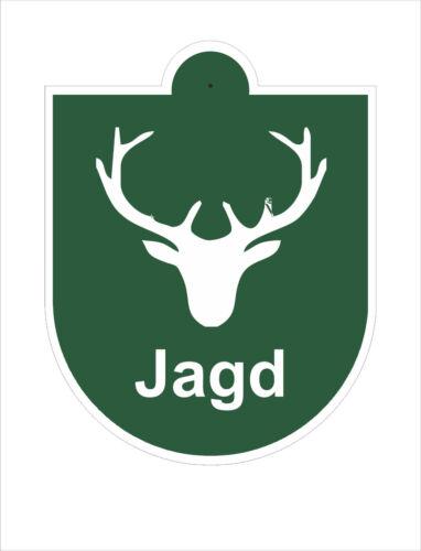 Jagd Forst Forstbetrieb Saugnapfschild PVC Plastik 115x85mm