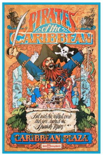 COLLECTOR POSTER 4 SIZES DISNEY WORLD PIRATES OF THE CARIBBEAN B2G1 FREE!!
