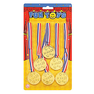 6 Medaglie D'oro Scuola Sport Giorno Vincitori Medaglie Olimpiadi Costume-mostra Il Titolo Originale