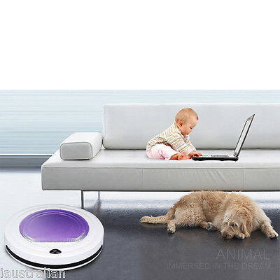 INTELLIGENT Auto ROBOTIC Vacuum Robot Floor Cleaner for Pets Hard Carpets