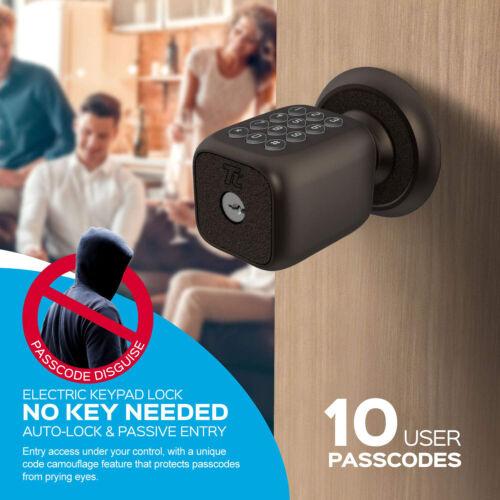Turbolock TL-111 Digital Door Lock w// Keypad Knob-Style for Keyless Entry Bronze