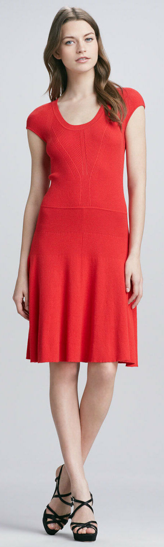 NWT MARC BY BY BY MARC JACOBS Women's Red Wanda Knit Sweater dress SZ XS 0e2330