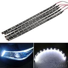 5pcs 15 LED 30cm Car Motor Vehicle Flexible Waterproof Strip Light White 12V New