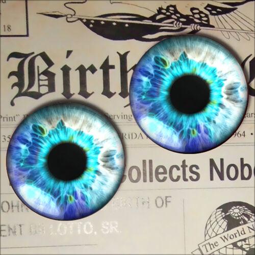 Magic Fairy Eyes Blue Sci-fi Alchemy Taxidermy Fantasy Glass Doll Eyeballs 30mm