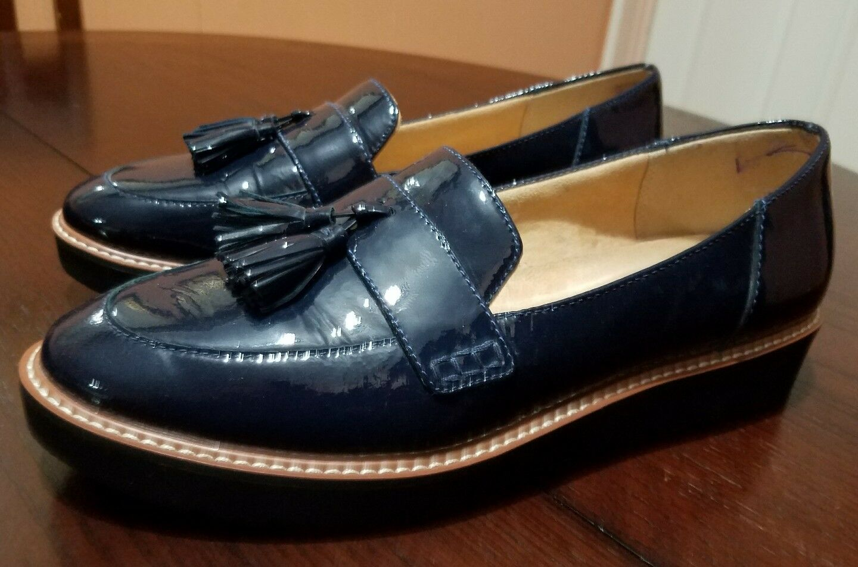 Naturalizer Women August bluee Patent Platform Loafer Size 11 M