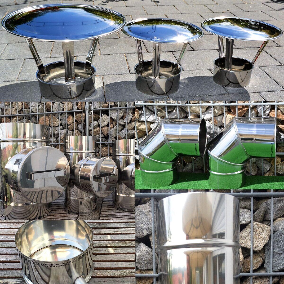 Edelstahl Schornstein Premium 1.4404 Sanierung Sanierung Sanierung Ofen Kamin Bogen Abgasrohr EW 0,6 0817d3