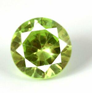 36.25 Ct Pakistan Peridot Gemstone Natural Round Diamond Cut Certified A40621